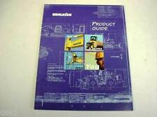 Komatsu Full Line Product Catalog Color Brochure