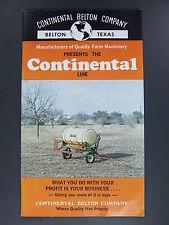 Vintage Continental Belton Farm Machinery Brochure Catalog Texas TX Advertising