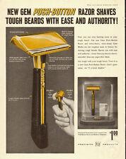 1979 vintage shaving advertisement, GEM Push-Button Razors, One Dollar! 072813