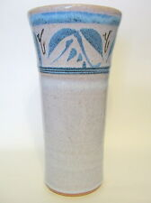 Art Pottery Hand Thrown Vase Ceramic Hand Made Signed 8 Inches
