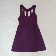 Silence + Noise Purple Plum Spring Dress size small Empire waist with pockets