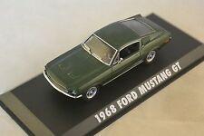 GREENLIGHT 86431 - Ford Mustang GT 1968 vert Bullit Steve Mcqueen  1/43