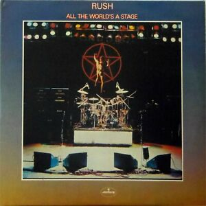 RUSH 'ALL THE WORLD'S A STAGE' VINYL DOUBLE LP MERCURY 6672 015