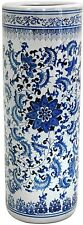 Umbrella Stand, Decorative Porcelain Round Waterproof Extra-Tall Floral New