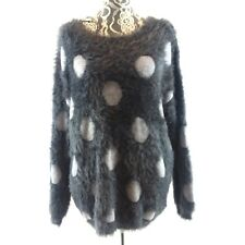 JOSEPH A Womens XXL Gray Eyelash Charcoal Dot Pullover Sweater Soft Silky