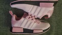 Adidas NMD_R1 Womens FX0825 True Pink Black Boost Running Training Shoes Size 6