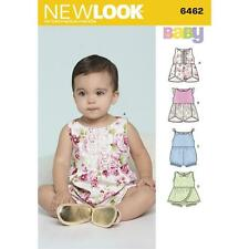 NEW LOOK SEWING PATTERN BABIES ROMPERS WITH TRIM VARIATIONS SIZE NB - L 6462