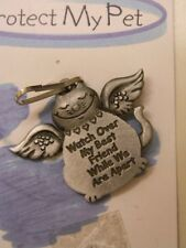 Protect My Pet Pewter Cat Tag Watch Over My Best Friend While We Are Apart - Usa