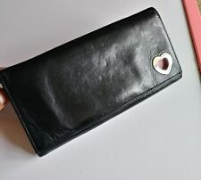 Lovcat Black Envelope Wallet with Heart pink leather