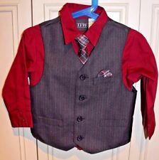 New TFW 3 piece formal set (shirt/vest/tie) for little boys size 3T