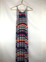 Skies Are Blue Womens Size Small S Halter Neck Maxi Dress Multicolored