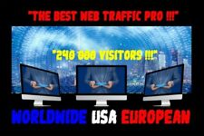 TRAFIC WEB TRAFFIC ONLINE WEBSITE 240 000 REAL VISITORS WORLDWIDE USA EUROPEAN