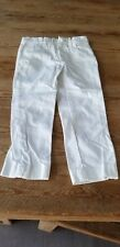 Nwot Crewcuts boy size 4 solid white slim fit adjustable waist pants