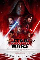 """Star Wars The Last Jedi movie poster  - 11"""" x 17""""  - Star Wars poster"""