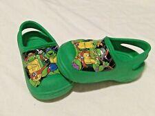 Teenage Mutant Ninja Turtles Green Clogs Play Shoes Size 5-6