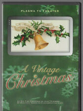 Plasma TV Theater A Vintage Christmas DVD 60 Images w/Music