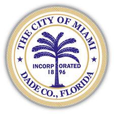 Miami City Seal USA Car Bumper Sticker Decal 5'' x 5''