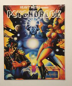 HEAVY METAL MAGAZINE VINTAGE HEAVY METAL PRESENTS  PSYCHOROCK 1977 ADULT BOOK