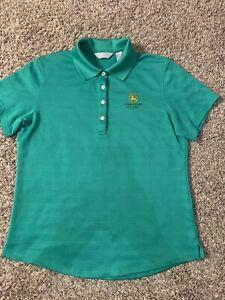 John Deere Classic Callaway Golf Polo Shirt ~ Women's Medium M ~ Green Ladies'