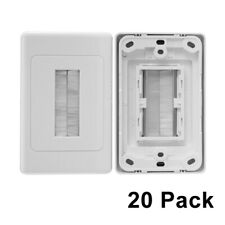 20 x Brush Wall Plate In-Wall Cable Management