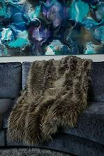 Celebrity Home Decorative Luxury Faux Fur Throw Blanket for Couch and Bed 50x60