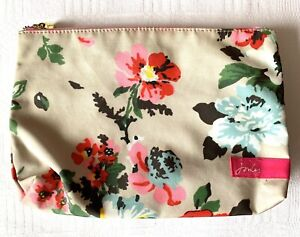 Joules Floral Makeup Cosmetic Wash Bag Pencil Case Two Zip Compartments