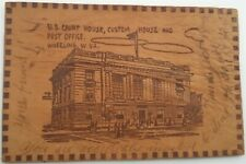 Leather Postcard WV Wheeling US Court House Custom House & Post Office 1905 L15