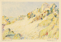 SYBIL ANDREWS, 'LE PETIT BAY, ST. MALO', rare signed color monotype, c. 1925.