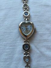 Vivani Blue Dial Silver Tone Ladies Bracelet Band Quartz Watch