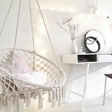 Macrame HAMMOCK CHAIR Swing Relax in Luxury Comfort Handmade Shabby Cream NEW