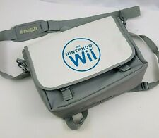 Wii Console Game Carry Bag Backpack White Gray Dream Gear 13x10x4