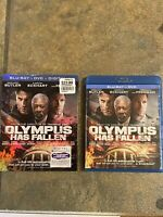LIKE NEW—Olympus Has Fallen w/ Slipcover (Bluray+DVD, 2013) FREE SHIPPING