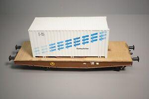 Spur 1 - EIGENBAU HANDARBEITSMODELL ?? Containerwagen     // 2 D 468