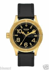 Nixon Original 38-20 Leather A467-513 Gold / Black 38mm Watch