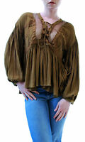 Free People Women's Don't Let Go Blouse Ginger Snap Size XS RRP £87 BCF65