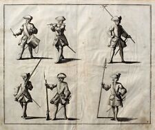 Barock Militär Musketier Tambour Offizier Flötenspieler Bajonett Muskete Uniform