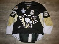 CCM Pittsburgh Penguins Sidney Crosby 2008 Fight Strap NHL Hockey Jersey Size 48