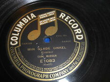 CARL MADSEN COLUMBIA 78 RPM RECORD 1083 DANISH MY HAPPY UNCLE LAUGHING SONG
