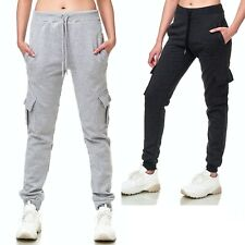 Trainingshose Sport Jogging Fitness Jogger Freizeit Hose Unifarben Damen