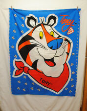 VTG 2 Panel Kelloggs Tony the Tiger Large Panel Print Fabric Pillow Wall Hanging