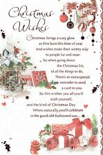 CHRISTMAS WISHES -  Quality Christmas Card, In Touch Collection, With Fab Verse