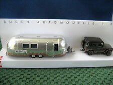 Busch (HO 1:87) Toyota Land Cruiser w/Airstream Hosp.Trailer#43011