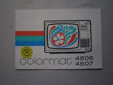 """Werbebroschüre Farb-Fernseher """"Colormat 4506/4507""""Fernsehgerätewerk Staßfurt,RFT"""