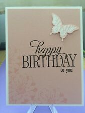 "Card Kit Set Of 4 Stampin Up Choose Happiness ""Birthday"" Butterfly"