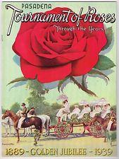 1939 TOURNAMENT OF ROSES PASADENA ROSE BOWL PARADE GOLDEN JUBILEE CALIFORNIA