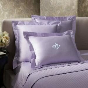 Ralph Lauren Home 624 Solid Sateen Euro Sham  Cotton Mayfair Violet MSRP $130