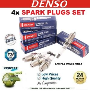 4x DENSO SPARK PLUGS for MG MG X-POWER 5.0 SV-R 2005-2008