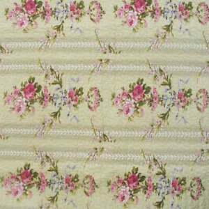 NEW! ~ COZY CHIC SHABBY SOFT ROSE RED BLUE PINK GREEN LEAF IVORY WHITE QUILT SET
