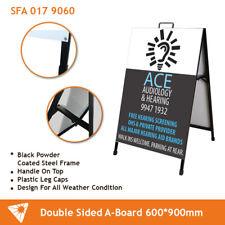 A Frame Sign/A Board /Metal Sandwich board Double Sided Road side sign sidewalk