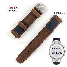 Timex Ersatzarmband für T47081 Outdoor Expedition - wasserfestes Leder/Nylon Mix